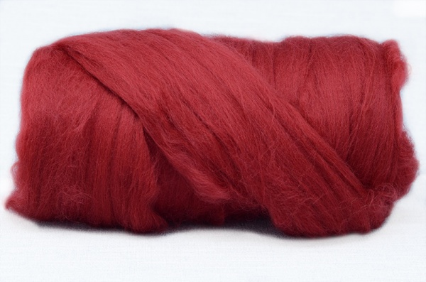 Cherry Red Dyed Merino 2.54