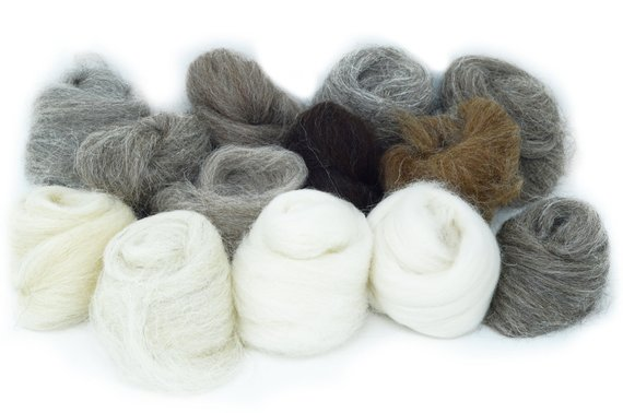 Craft Pack: Natural Wools, Mixed 100gm