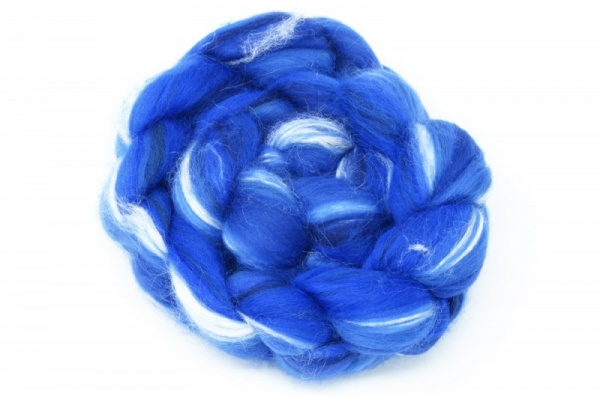 Merino and Silk, Dark Blue 100gm