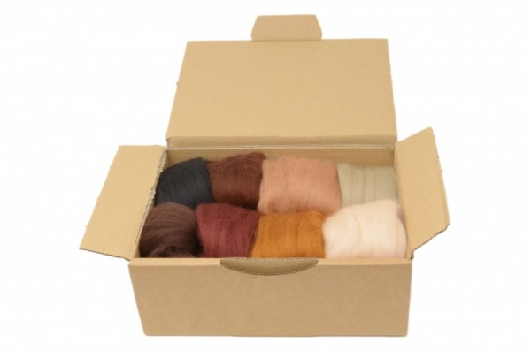 Brown Merino Wool Selection Pack<br> *Includes Free UK Shipping*