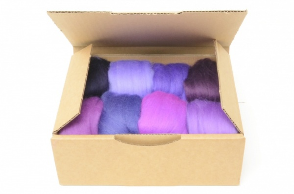Purple Merino Wool Selection Pack<br> *Includes Free UK Shipping*
