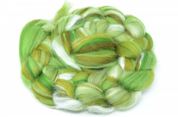 Merino and Silk, Green 100gm