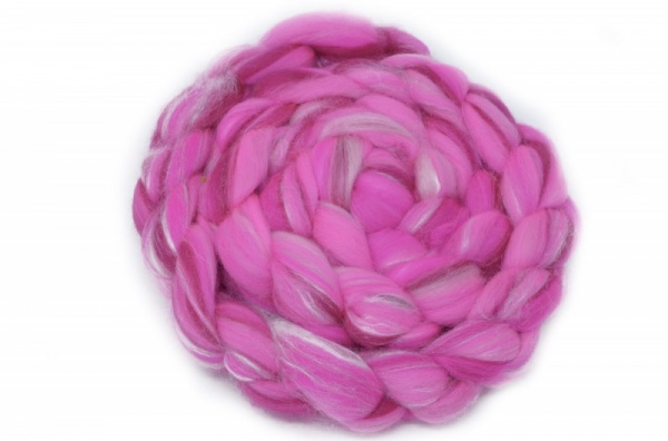 Merino and Silk, Pink 100gm