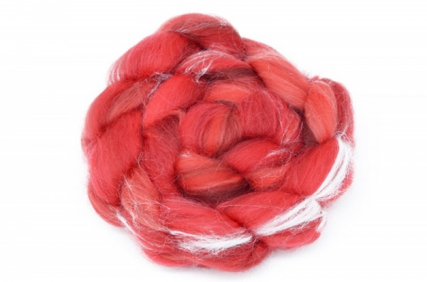 Merino and Silk, Red 100gm
