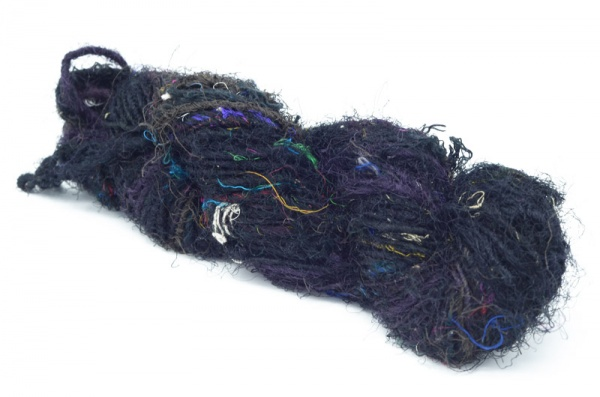 Sari Silk Yarn - Black