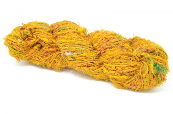 Sari Silk Yarn - Yellow