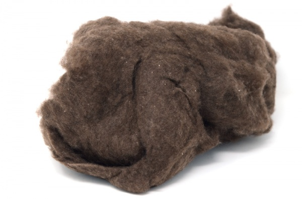 Brown Carded Cashmere 50gm BCF