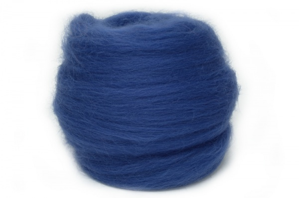 Dyed Corriedale Wool: Navy 100gm