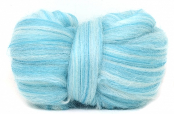 Corriedale Wool Blend: Turquoise 100gm