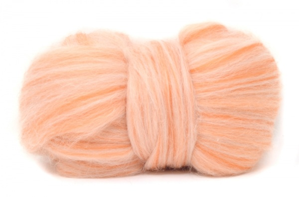 Corriedale Wool Blend: Orange 100gm