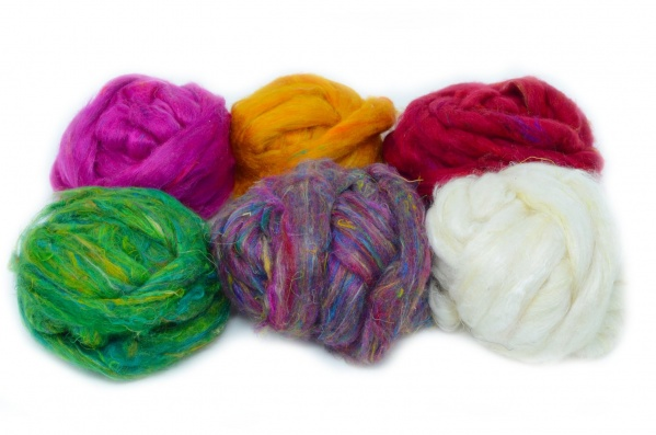 Craft Pack: Mixed Sari Silk 100gm