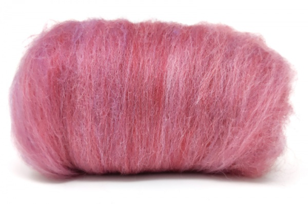 Carded Wool Laps: Pinks Shades 100gm