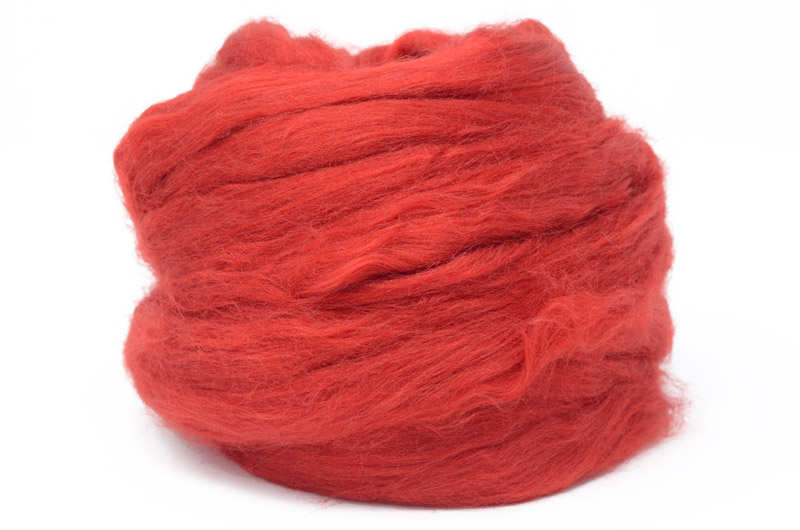Tussah Silk - Red DTS1