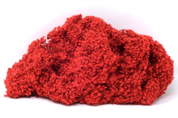 Synthetic Wool Nepps: Deep Red
