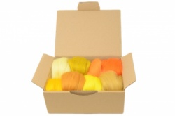 Yellow & Orange Merino Wool Selection Pack<br> *Includes Free UK Shipping*