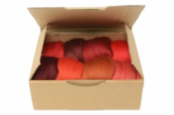 Red Merino Wool Selection Pack<br> *Includes Free UK Shipping*
