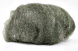 Carded Wool Laps: Dark Green 100gm