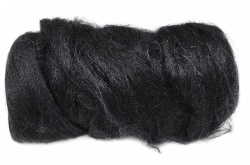 Dyed Tussah Silk  - Black