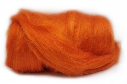 Dyed Tussah Silk  - Orange