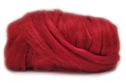 Dyed Tussah Silk  - Red