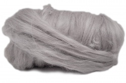 Dyed Tussah Silk  - Grey